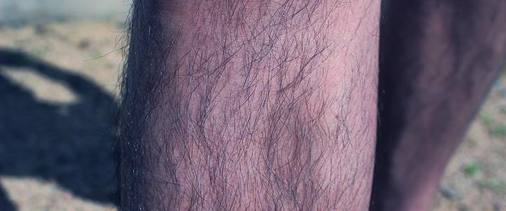 すね毛を蓄えた男性の足